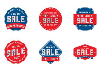 4th July Label Sale - vector gratuit #438409