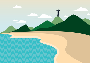 Copacabana Beach - Free vector #438429