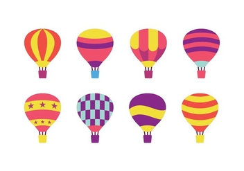 Hot Air Balloon Vector Pack - vector gratuit #438479