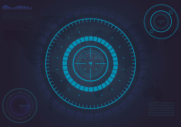 HUD Background and Element Background Set - Free vector #438519