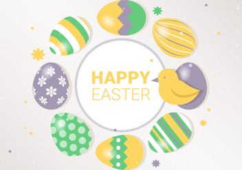 Free Spring Happy Easter Vector Illustration - Kostenloses vector #438559