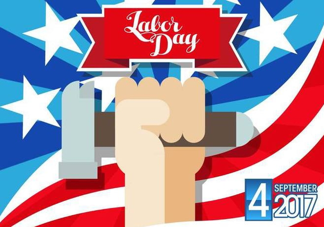 Labor Day September 4th 2017 Vector - Free vector #438609
