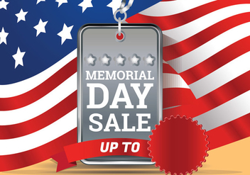 Memorial Day Sale Background Template - Free vector #438669