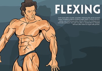 Flexing Vector Background - Free vector #438689
