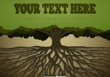 Tree With Roots Template - vector #438719 gratis