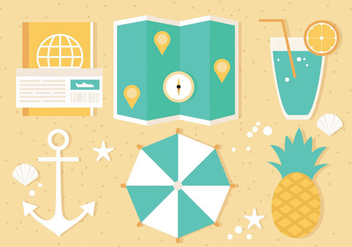 Free Summer Travel Vector Illustration - Free vector #438739