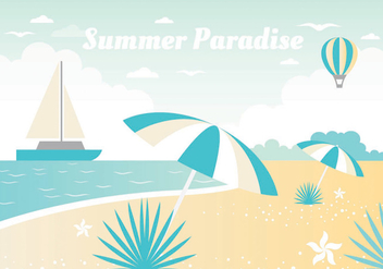 Free Summer Vacation Vector Landscape - Free vector #438749
