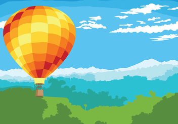 Hot Air Balloon Vector Background - Free vector #438769