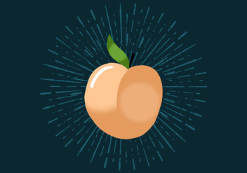 Radiant Peach - vector gratuit #438779