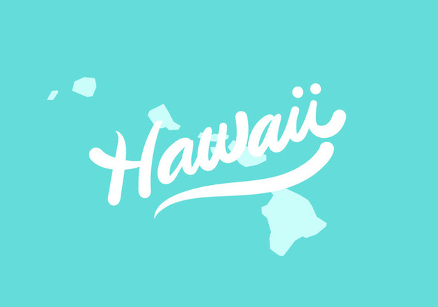 Hawaii state lettering - Free vector #438829