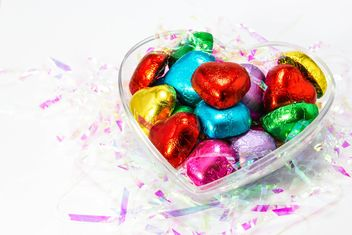 Heart shaped of chocolate candy - бесплатный image #439029