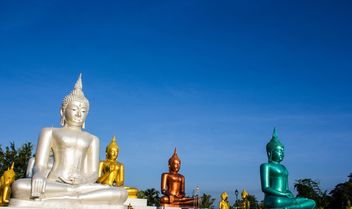 Image of five buddha in chiangrai Thailand - бесплатный image #439139