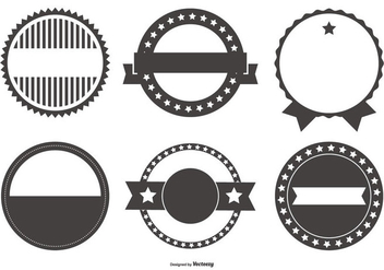 Retro Badge Shapes Collection - vector gratuit #439289