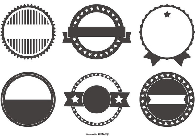 Retro Badge Shapes Collection Free Vector Download 439289 | CannyPic