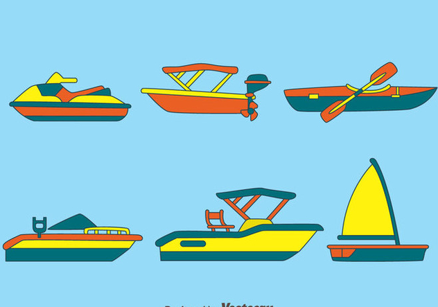 Water Transportation Vectors - Free vector #439299