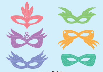 Colorful Masquerade Mask Vectors - бесплатный vector #439319