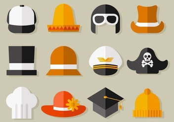 Free Hat Collection Vector - Kostenloses vector #439339