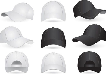 Vector Mockup Templates of Cap and Hat - vector gratuit #439369
