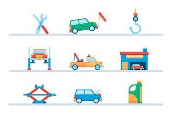 Car Towing and Repair - Free vector #439399