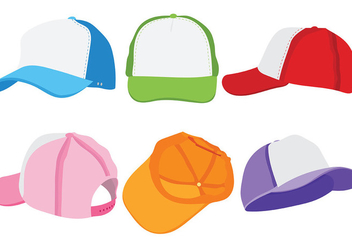 Trucker Hat Vector Icons - vector #439449 gratis