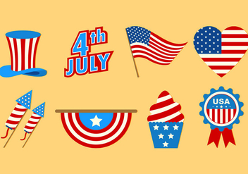 Set Of Independence Day Icons - Free vector #439459