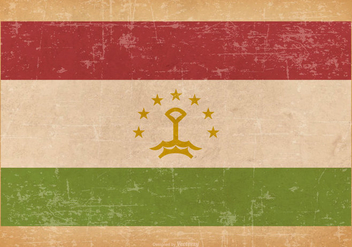Grunge Flag of Tajikistani - бесплатный vector #439469