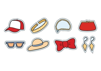Fashion Accessories Icon Set - Free vector #439489