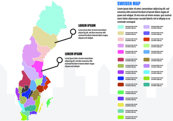 Sweden Map Infographic - Free vector #439539