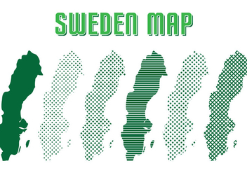 Sweden Map Vector - vector #439549 gratis