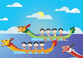 Dragon Boat Festival Kids Vector - бесплатный vector #439619