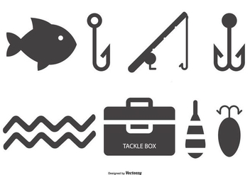 Fishing Icon Collection - vector gratuit #439689