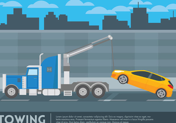 Towing Vector Background - vector gratuit #439709