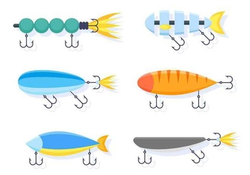 Free Outstanding Fishing Tackle Vectors - бесплатный vector #439719