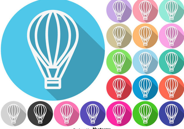 Hot Air Balloon Buttons Vector Set - Free vector #439799