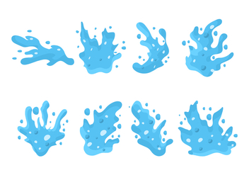Free Water Jet Splash Vector - vector gratuit #439809