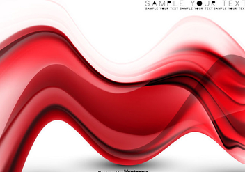 Vector Abstract Background - Red Vector Abstract Wave - Kostenloses vector #439829