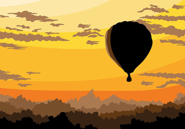 Hot Air Balloon Vector Background - Kostenloses vector #439839