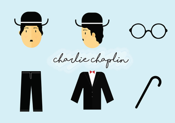 Charlie Chaplin Elements Vector Pack - Free vector #439849