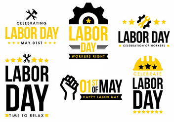 Labor Day Vector Element Design - Free vector #439879