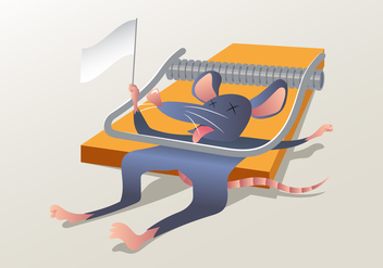 A Mouse Stuck In A Mouse Trap - vector #439909 gratis