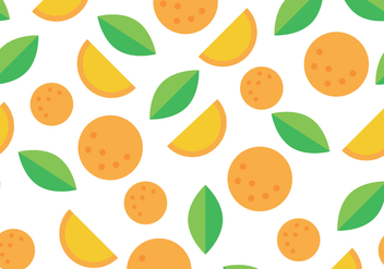 Orange And Green Clementine Pattern - vector gratuit #439919