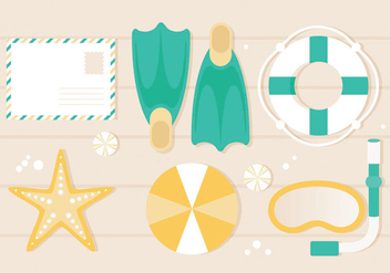Free Flat Design Vector Summer Illustration - бесплатный vector #439999