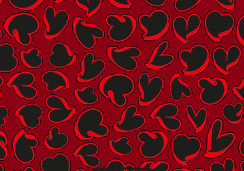 Abstract Hearts Seamless Pattern - Vector - Free vector #440059