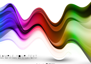 Vector Colorful Abstract Waves Poster - vector #440069 gratis