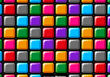 Vector Pixel Art Colorful Blocks Seamless Pattern - Kostenloses vector #440079