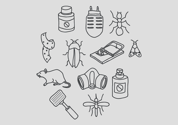 Pest Control and Bug Elimination Vectors - Free vector #440089