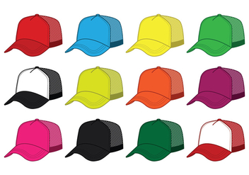 Blank Trucker Hat Vector - бесплатный vector #440139