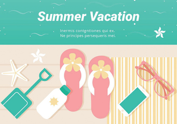 Free Summer Vacation Vector Illustration - Free vector #440179