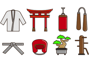 Set Of Dojo Icons - vector gratuit #440199