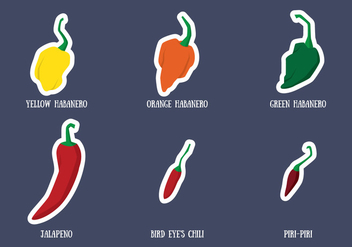 Habanero And Chili Vector - vector gratuit #440209